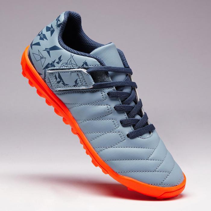 Chaussure de football enfant terrains durs Agility  300 HG à scratch bleue - 1352648