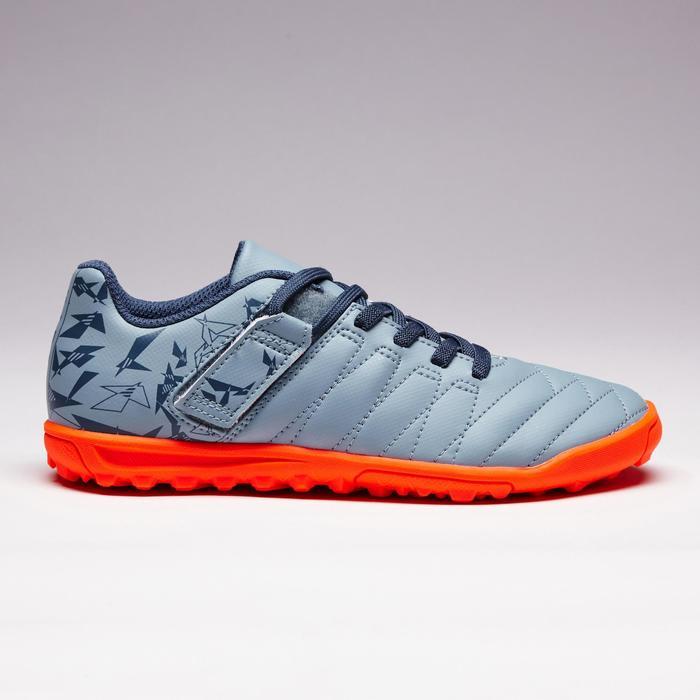 Chaussure de football enfant terrains durs Agility  300 HG à scratch bleue - 1352649