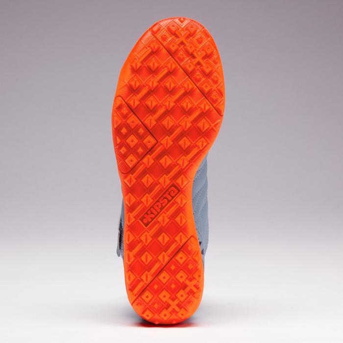 Fußballschuhe Multinocken Agility 140 HG Klettverschluss Kinder grau/orange