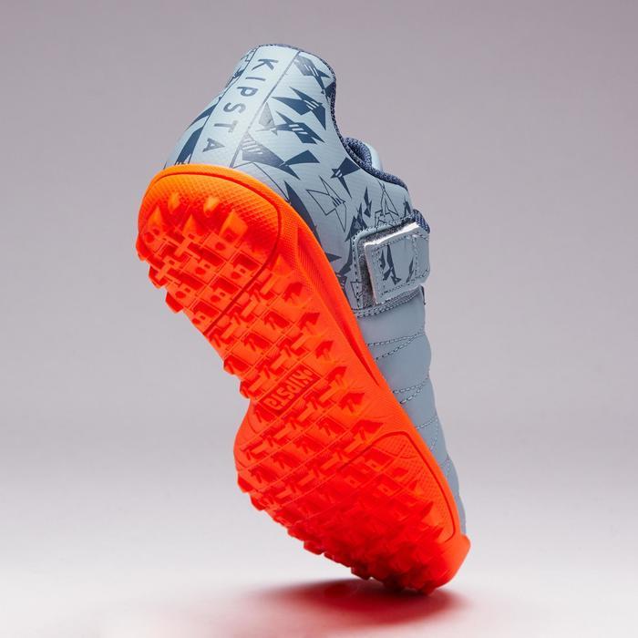 Chaussure de football enfant terrains durs Agility  300 HG à scratch bleue - 1352654
