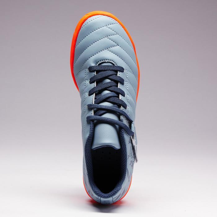 Chaussure de football enfant terrains durs Agility  300 HG à scratch bleue - 1352657