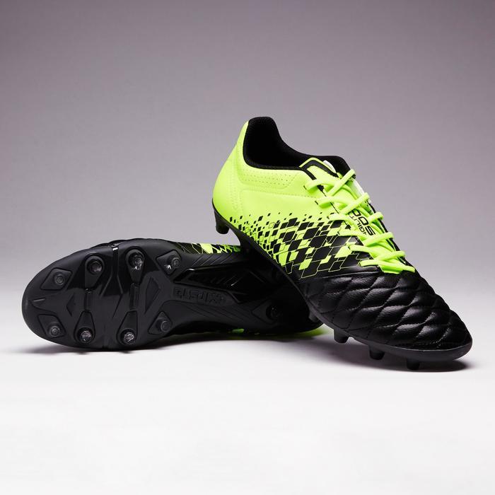 Voetbalschoenen voor volwassenen Agility 500 FG voor droog terrein zwart geel