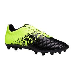 Chaussure de football adulte terrain sec Agility 500 FG noire jaune