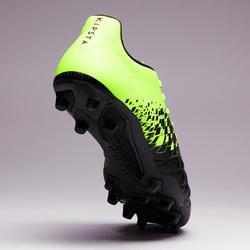 Chaussure de soccer adulte terrains secs Agilité 500 FG noire jaune