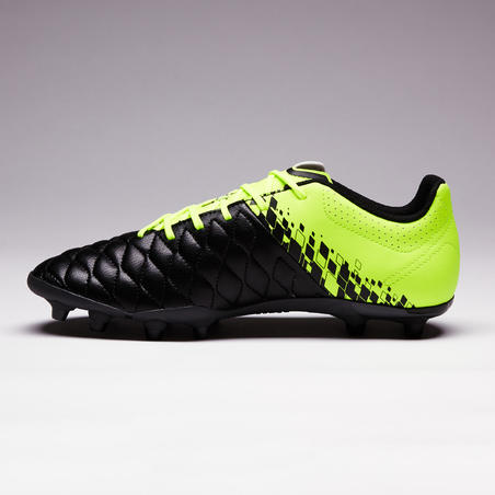 Agility 500 FG Adult Dry Pitches Football Boots - Black/Yellow