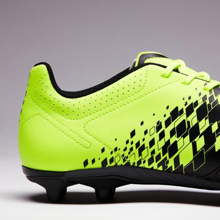 Agility 500 FG Sepatu Sepak Bola Dewasa Lapangan Kering - Hitam/Kuning