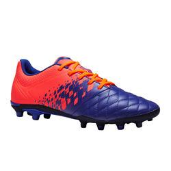 Chaussure de football enfant terrain sec Agility 500 FG bleue et orange