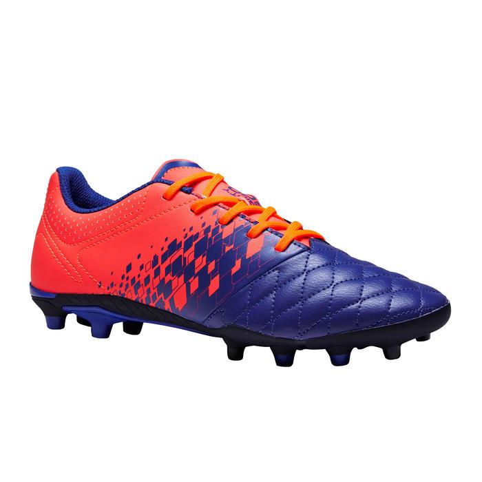 Chaussure de football enfant terrains secs Agility 500 FG bleu orange - 1352673