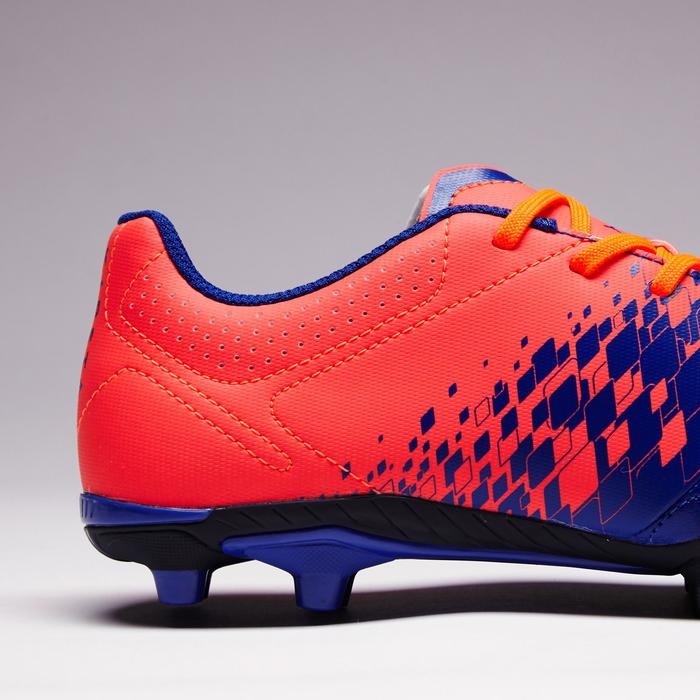 Chaussure de football enfant terrains secs Agility 500 FG bleu orange - 1352674