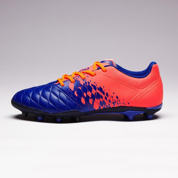 Chaussure de football enfant terrains secs Agility 500 FG bleu orange - 1352681
