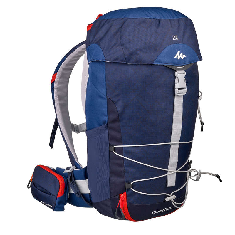 ZAINI MONTAGNA 20 - 40 LITRI Sport di Montagna - Zaino MH100 20L azzurro QUECHUA - Materiale Trekking