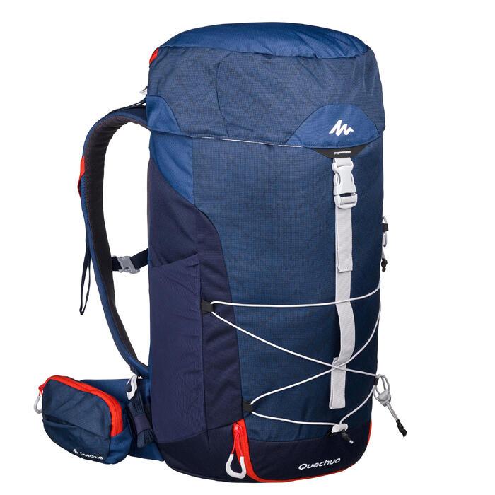 Wandelrugzak voor bergtochten MH100 30 liter blauw