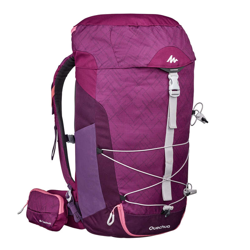 20L TO 40L MOUNTAIN HIKING BACKPACKS Hiking - MH100 30L Backpack - Purple/Pink QUECHUA - Hiking Backpacks and Bags