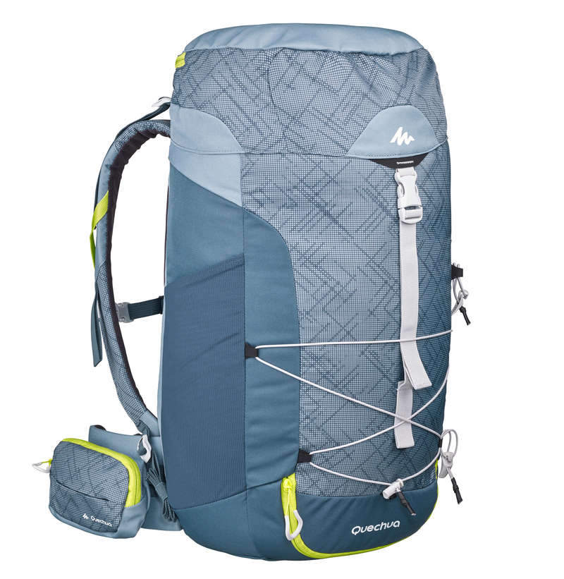 20L TO 40L MOUNTAIN HIKING BACKPACKS Hiking - MH100 40L Backpack - Grey QUECHUA - Hiking