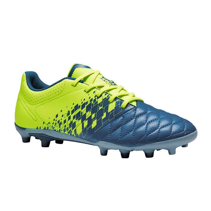 Chaussure de football enfant terrains secs Agility 500 FG bleu orange - 1352697