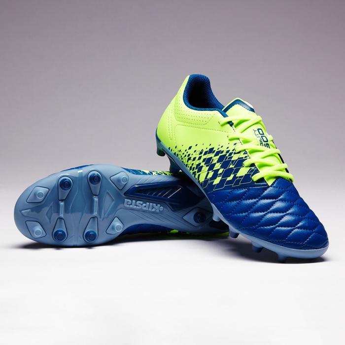 Chaussure de football enfant terrains secs Agility 500 FG bleu orange - 1352699