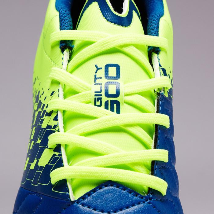 Chaussure de football enfant terrains secs Agility 500 FG bleu orange - 1352706