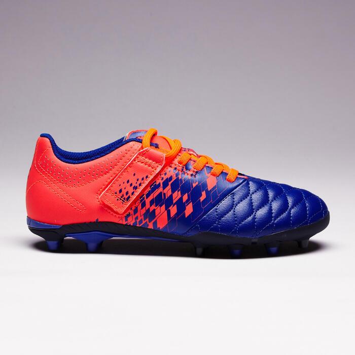 Chaussure de football enfant terrains secs Agility 500 FG bleu orange - 1352715