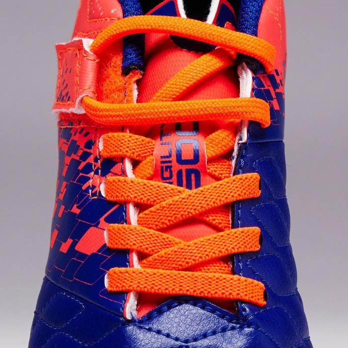 Chaussure de football enfant terrains secs Agility 500 FG bleu orange - 1352719