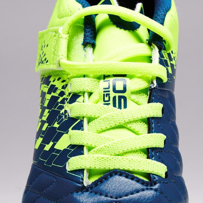 Chaussure de football enfant terrains secs Agility 500 FG bleu orange - 1352728