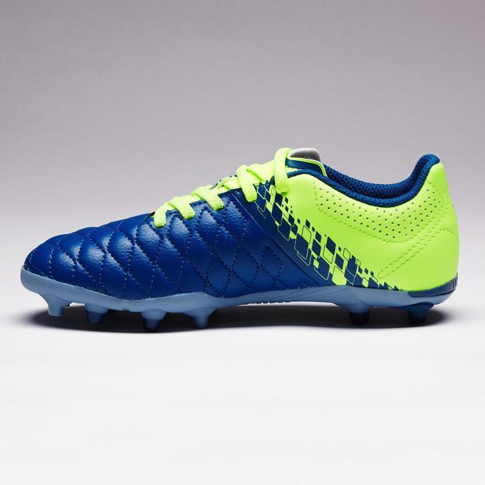 Fußballschuhe Nocken Agility 500 FG Kinder blau/gelb
