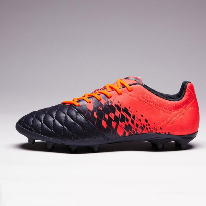 Chaussure de football adulte terrains secs Agility 500 FG grise orange