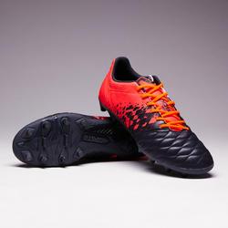 Fußballschuhe Agility 500 FG Nocken Erwachsene grau/orange