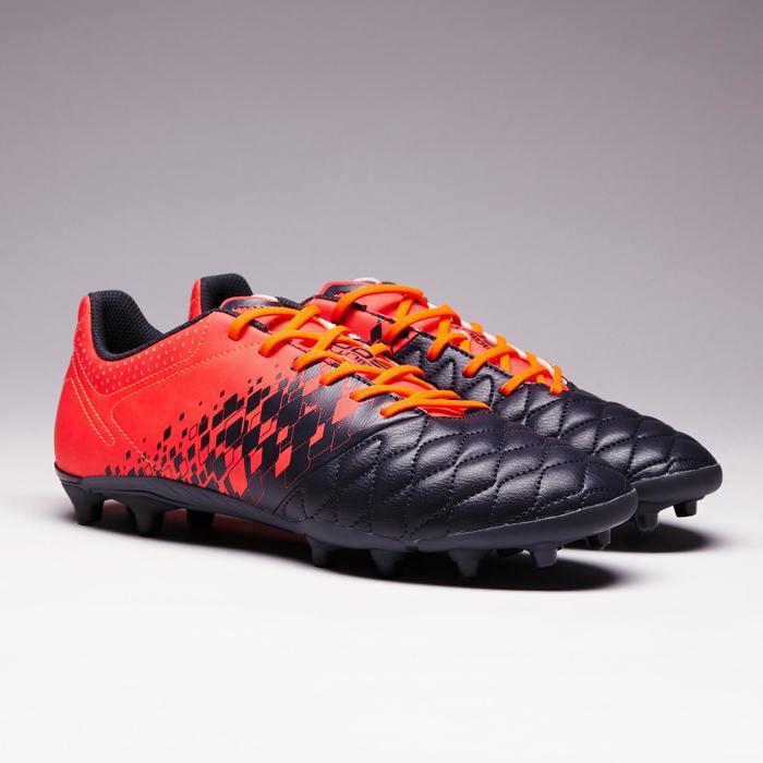Botas de Fútbol adulto Kipsta Agility 500 FG gris y naranja