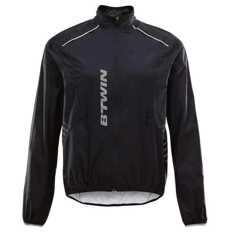 MEN WET WEATHER INT ADV ST MTB APPAREL Cycling - ST 500 Waterproof Cycling Jacket - Black ROCKRIDER - Cycling