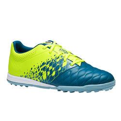 Voetbalschoenen voor kinderen Agility 500 HG voor hard terrein blauw geel