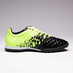 Chaussure de soccer adulte terrain dur Agilité 500 HG noire et jaune