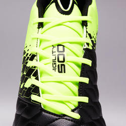 Agility 500 HG Adult Firm Field Soccer Shoes - Black/Yellow