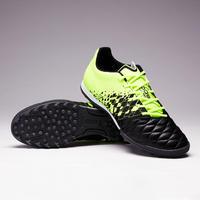 Tenis de fútbol para terrenos duros para adulto Agility 500 HG Negro y amarillo