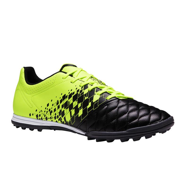 best place 100% genuine casual shoes Chaussures - Chaussure de football adulte terrain dur Agility 500 HG noire  & jaune