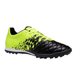 Botas de fútbol adulto terrenos duros Agility 500 HG negro y amarillo