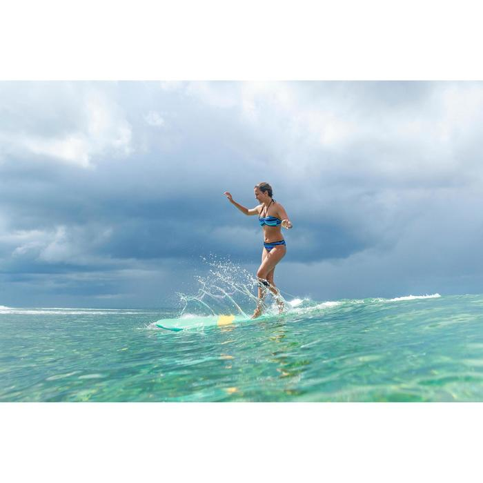 Braga Bikini Surf Ancha Olaian Nina Jazz Mujer Clásica Estampado Azul Morado