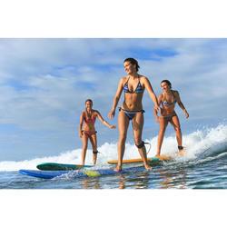 Dames bikinibroekje met striksluiting opzij voor surfen Sofy Jazz roze
