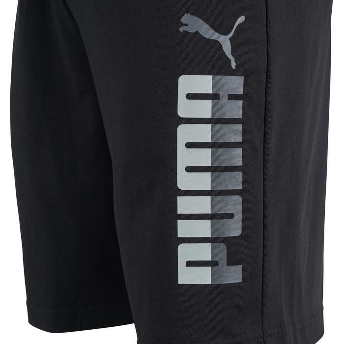 Herenshort logo Puma 100 voor gym en stretching zwart