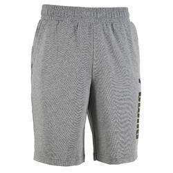 Short Logo Puma 100 Gym Stretching homme gris