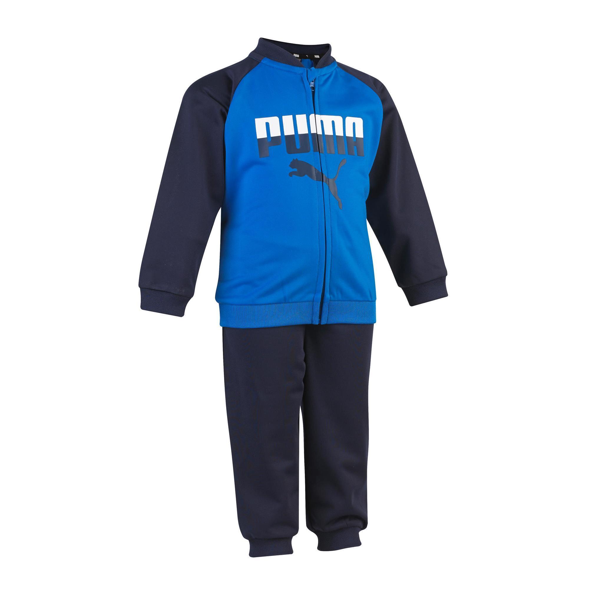 Puma Trainingspak voor jongens, voor peutergym blauw blauw