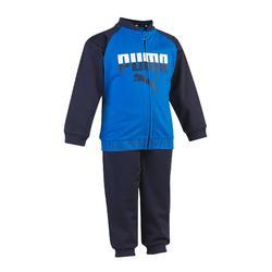 Trainingspak voor jongens, voor peutergym blauw blauw