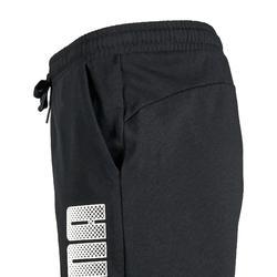 Sporthose kurz Kinder schwarz mit Print