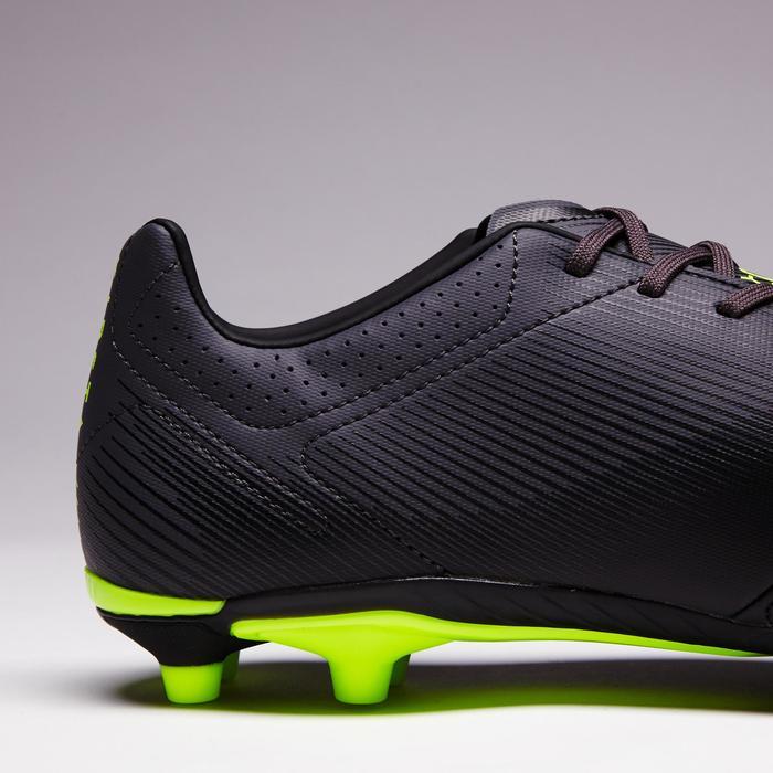 Chaussure de football adulte terrains secs Agility 540 cuir FG noire grise jaune