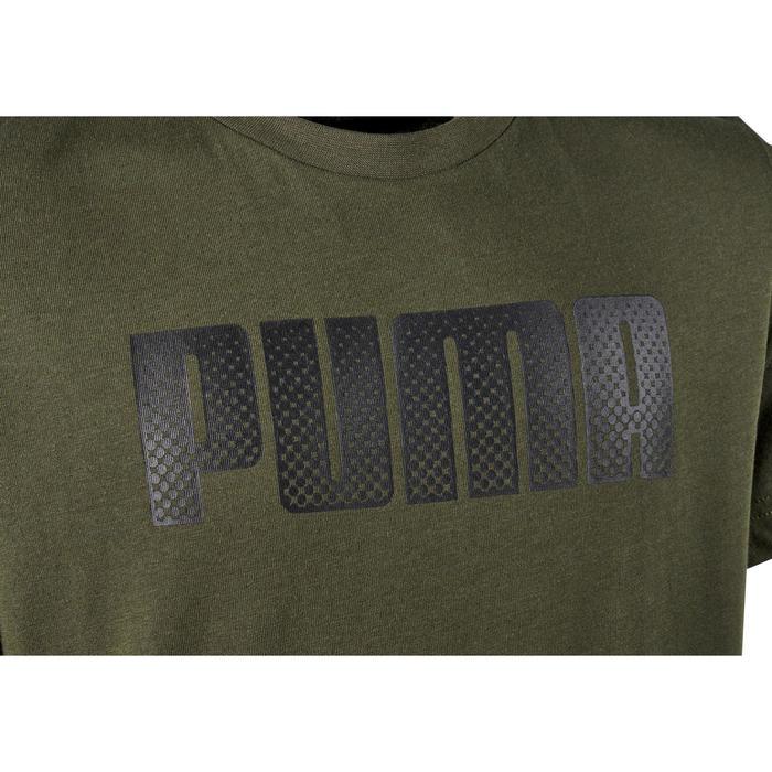 T-Shirt manches courtes Gym garçon kaki imprimé - 1353188