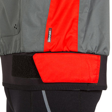 DG500 adult dinghy sailing anorak - grey/red