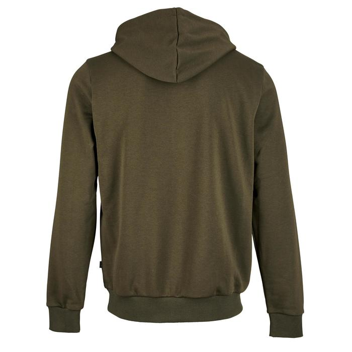 Sweatshirtjacke 500 Gym Stretching Herren khaki