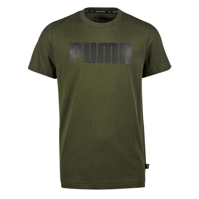 Gym T-shirt met korte mouwen voor jongens kaki print