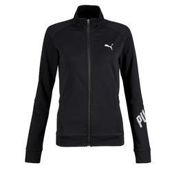 Sweatshirtjacke 100 Gym Stretching Damen schwarz