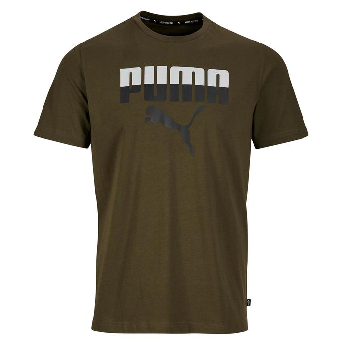 T-shirt Logo Puma 100 Gym Stretching homme kaki - 1353245