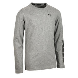 T-shirt lange mouwen gym jongens Puma grijs